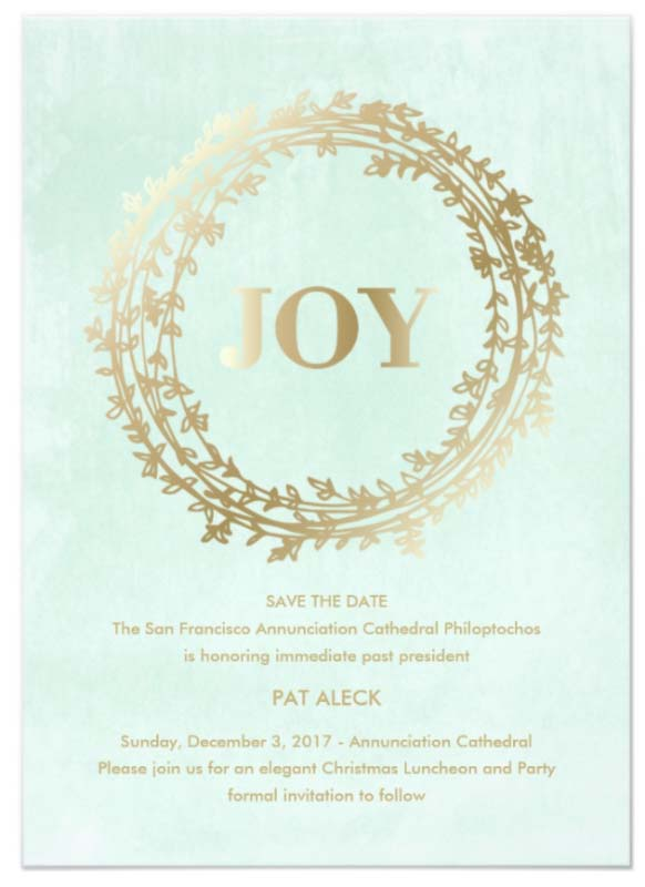 Fete Honoring Patricia Aleck, Sunday, December 3